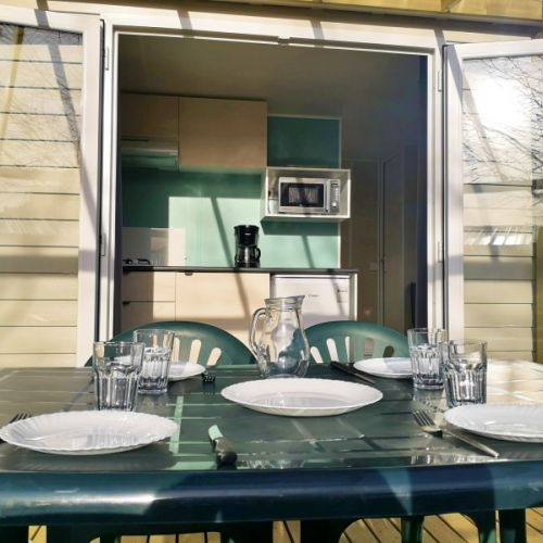 Location Mobil Home Tele Camping Collias Barralet